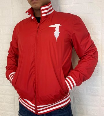 Trussardi 男款 限量版 時尚大LOGO 休閒棒球夾克 外套