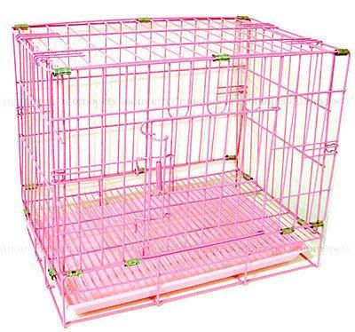 單門 狗籠2尺靜電式狗籠粉紅色靜電烤漆摺疊+粉色尿盤狗屋另有2.5尺☆米可多寵物精品☆