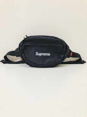 SUPREME WAIST BAG BOX LOGO 黑 紅 小容量 反光字體  腰包 斜肩包 1.2L FW18
