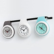 【全館八折免運】掛鐘北歐吸盤鐘錶廚房靜音家用防水衛生間浴室鐘客廳創意迷你小掛鐘錶