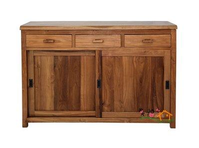幸福家傢俱 全柚木收納櫃[SIDEBOARD 20],柚木餐櫃,全實木傢俱,柚木家具
