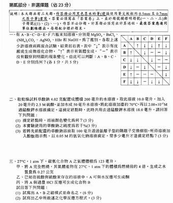 台大醫學生精選化學模擬試題