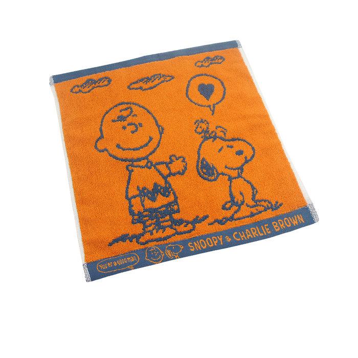 (超值4條組)(愛心款)SNOOPY史努比 純棉撞色緹花大方巾MORINO摩力諾 免運