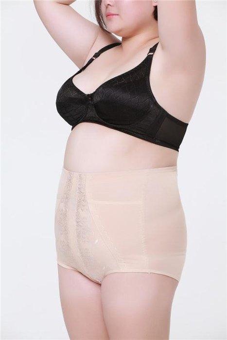 收腹內褲 提臀內褲 功能高腰加大碼加肥女士胖MM束腹褲純棉收腹褲產後美體塑身褲yf1198