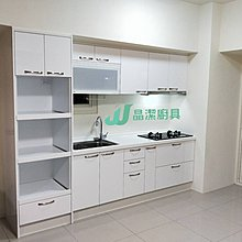 白色優選210cm上下櫃+60cm電器櫃+喜特麗三機 系統廚具 韓國人造石流理台 廚具  客製化訂做 免費到府丈量討論