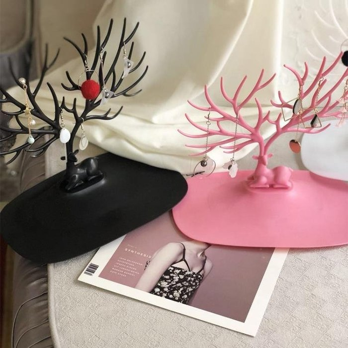 耳環耳釘收納盒子簡約首飾戒指耳墜飾品盒項鍊禮物盒大容量展示架
