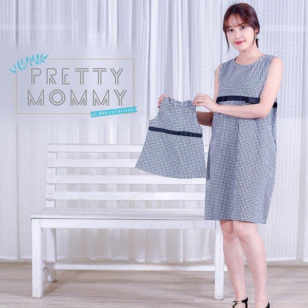 【愛天使孕婦裝】93565涼爽泡泡紗緞帶哺乳衣孕婦裝 親子裝