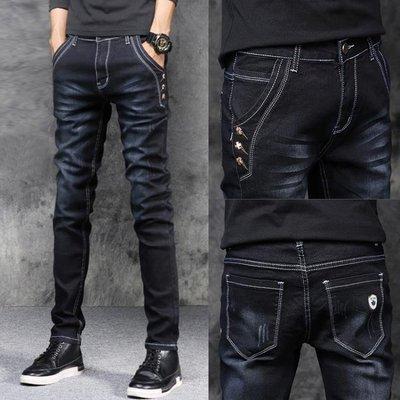 牛仔褲男孩青少年14-16歲韓版潮流10初中學生12大童15高中18褲子