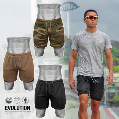 《衣匠》☆ 一件抵兩件 多口袋 兩件式設計 防走光 男運動短褲﹝DK20I﹞