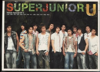 R韓日語(二手CD)~SUPER JUNIOR U~Taiwan Special EP2~CD+VCD~~