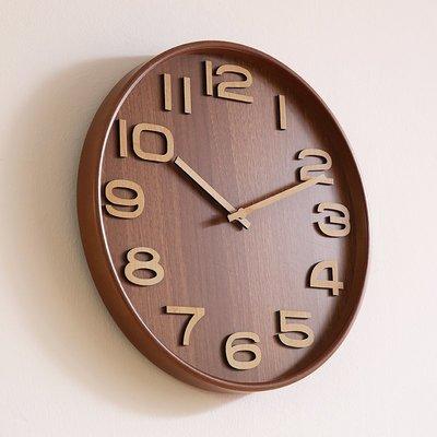 〖洋碼頭〗北歐實木創意鐘錶時鐘掛鐘客廳臥室日式簡約個性時尚靜音掛表家用 xtm164