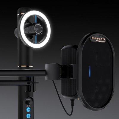 【公司貨】MARANTZ Turret 電腦直播專用 三合一 直播系統 LED燈 鏡頭 視訊相機 電容麥克風 USB孔