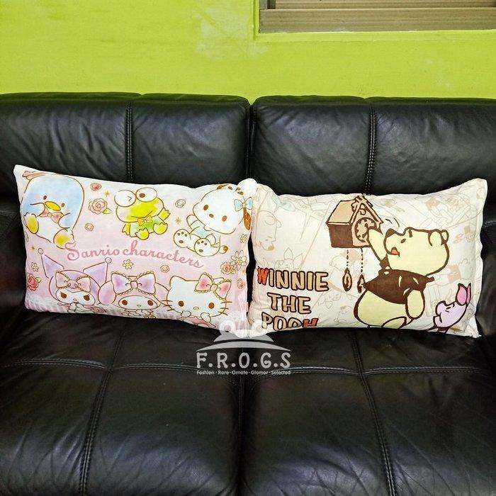 F.R.O.G.S MB0032迪士尼維尼小豬大眼蛙凱蒂貓美樂蒂家族造型枕頭套枕套枕芯套床套靠枕套抱枕套(現+預)