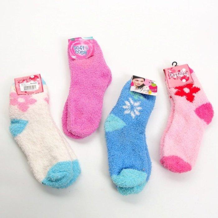 最怕腳冷 高保暖 冬季必備 保暖可愛加厚珊瑚絨毛毛襪 保暖襪 雪地襪 (MXW1)