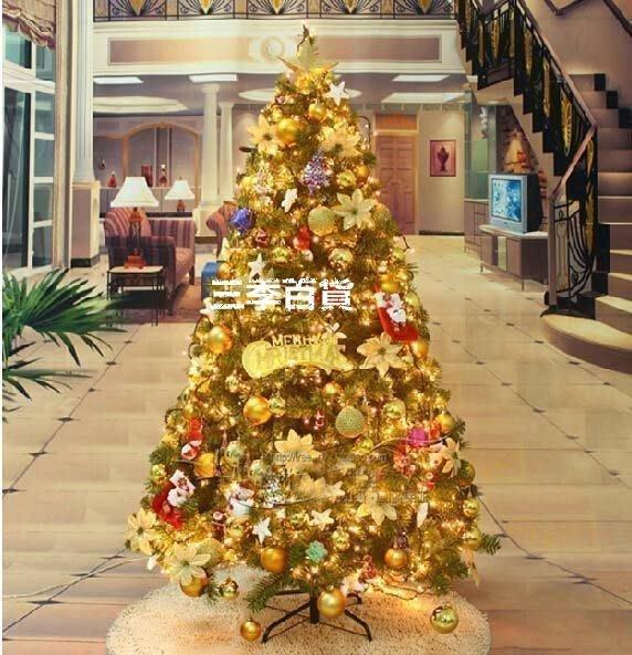 三季耶誕繽彩 加密 150CM金色裝飾聖誕樹 1.5米聖誕樹套餐 ❖779