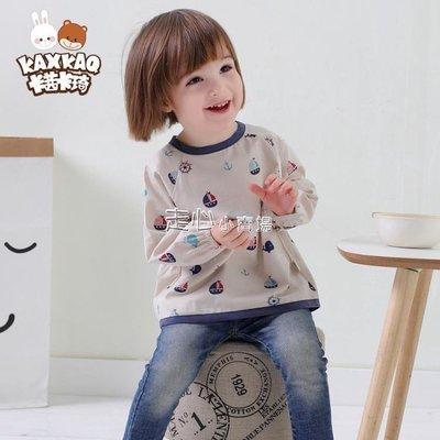 寶寶罩衣薄款嬰兒防水反穿衣兒童吃飯衣圍兜純棉女孩男童(兩件裝)SUN