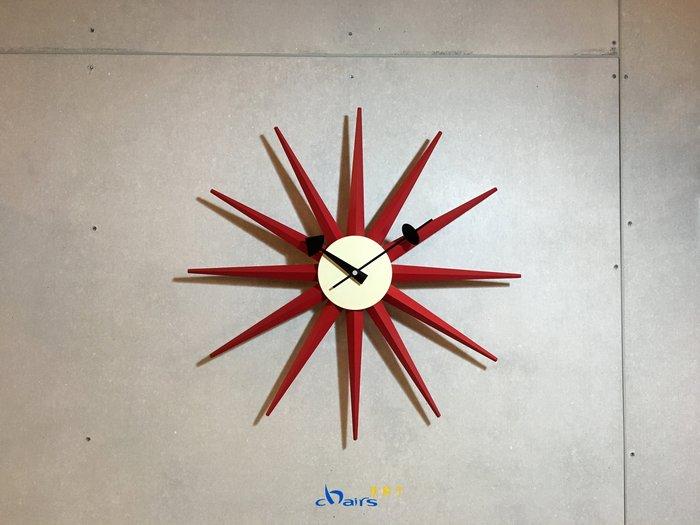【挑椅子】【促銷品限門市自取】北歐簡約風  設計師款 光芒鐘 (復刻版) XC-003 紅色