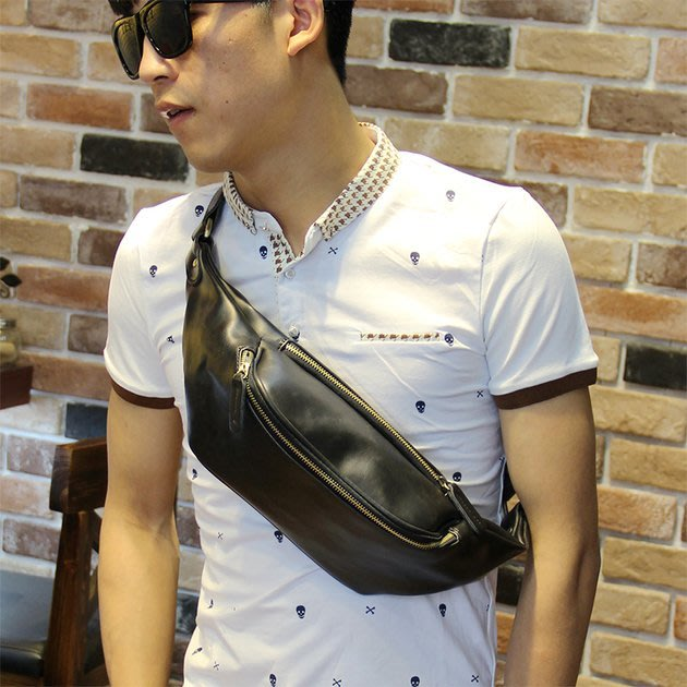 FINDSENSE 韓版男包 G6 男用休閒包簡約後揹包胸包男韓版腰包皮質小包包男士斜挎包單肩包運動背包商務包運動包包