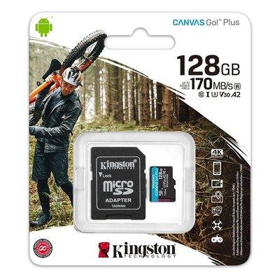 含稅附發票 金士頓 128G 128GB microSDXC UHS-I U3 V30 A2 記憶卡 SDCG3