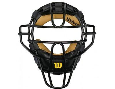 ((綠野運動廠))最新WILSON大聯盟職業等級UMPIRE裁判鐵面罩,穿戴舒適保護力佳,大聯盟LOGO優惠促銷