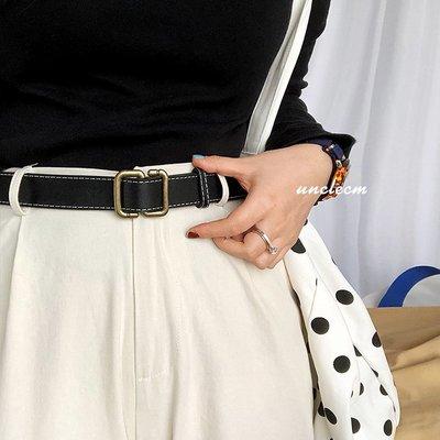 新款皮帶免打孔皮帶男潮韓版年輕人窄腰帶女潮流學生個性潮人ins工裝褲帶