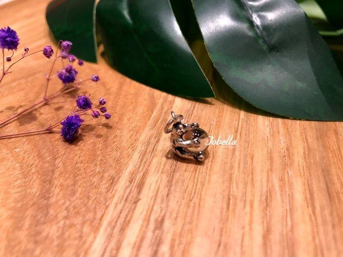 ✽JoBella 日本空運 日本代購 日貨✽ 925銀 可愛熊熊抱球墜子 月光石 現貨