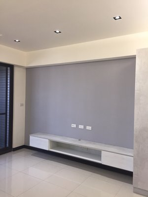 台中系統櫃--中空格框雙開門系統電視TV櫃 { 湯姆 客製化TV櫃 } 北歐宜家風 客製化