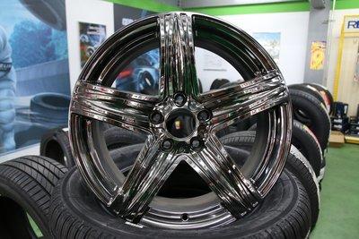 超級輪胎王~全新長鴻鋁圈~HTC107~17吋~5X112~ET35~7J~[直購價3200]