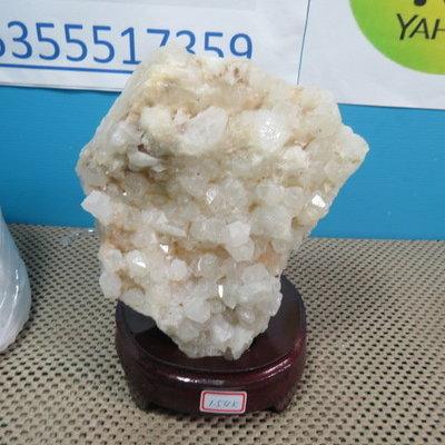 【競標網】漂亮巴西天然3A白水晶簇原礦1540克(贈座)(網路特價品、原價2800元)限量一件