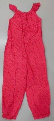 全新商品~baby gap 可愛橘色花朵吊帶褲~3T