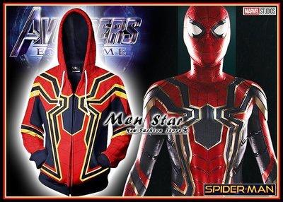 【Men Star】免運費 復仇者聯盟 4 蜘蛛人 彈力運動外套 marvel 男 媲美 極度乾燥 ua reebok