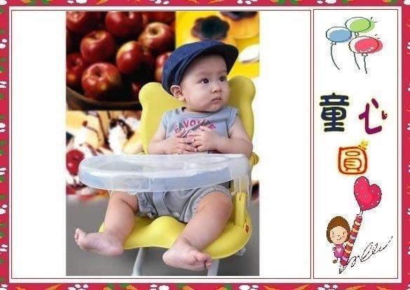 Arico -Q CHAIR多功能兒童餐椅/黃色小熊-(無椅套款)◎童心玩具1館◎