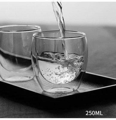 【買十送一 】250ml 蛋形雙層玻璃杯 保溫隔熱 水杯茶杯 高硼矽耐熱咖啡杯【丹麥-Bodum、星巴克可參考】