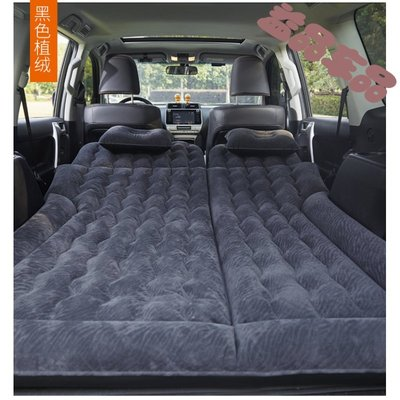 @上新夏季新款 飛達 車載后排旅行床墊汽車后座折疊車內睡覺床墊非充氣車用床SUV轎車 雙用豹紋黑