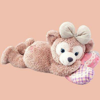 ☆愛莉詩☆日本帶回~日本迪士尼限定-情人節暖心日*雪莉美絨毛玩偶抱枕-趴姿