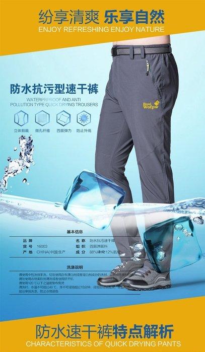 男款(L~6XL )春夏薄款 輕薄衝鋒褲 戶外速乾褲 登山褲 男生 休閒長褲