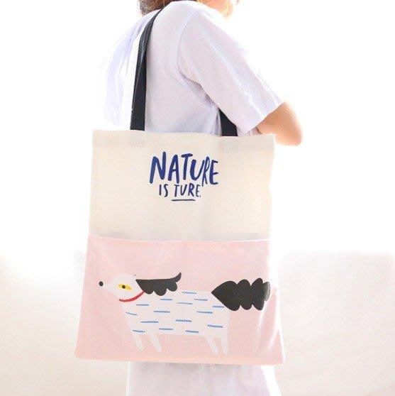 帆布袋 帆布包 休閒手提磁扣單肩包 環保購物袋 【YL0845】