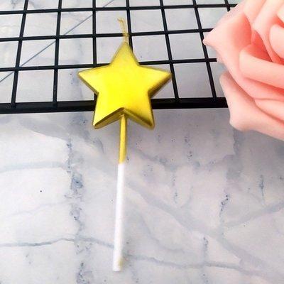 星星愛心形生日蠟燭無煙無淚鍍金色銀色派對網紅蠟燭蛋糕裝飾用品