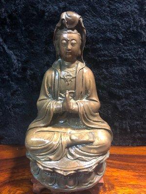『華山堂』古董早期 文物 早期收藏 老件 銅製 觀音 觀世音菩薩 老件 老銅