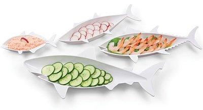 感恩seafood! 大魚吃小魚 海鮮沙拉盤(每組4入,不同大小),也可當水果盤! idea-dozen創意達人妙推薦