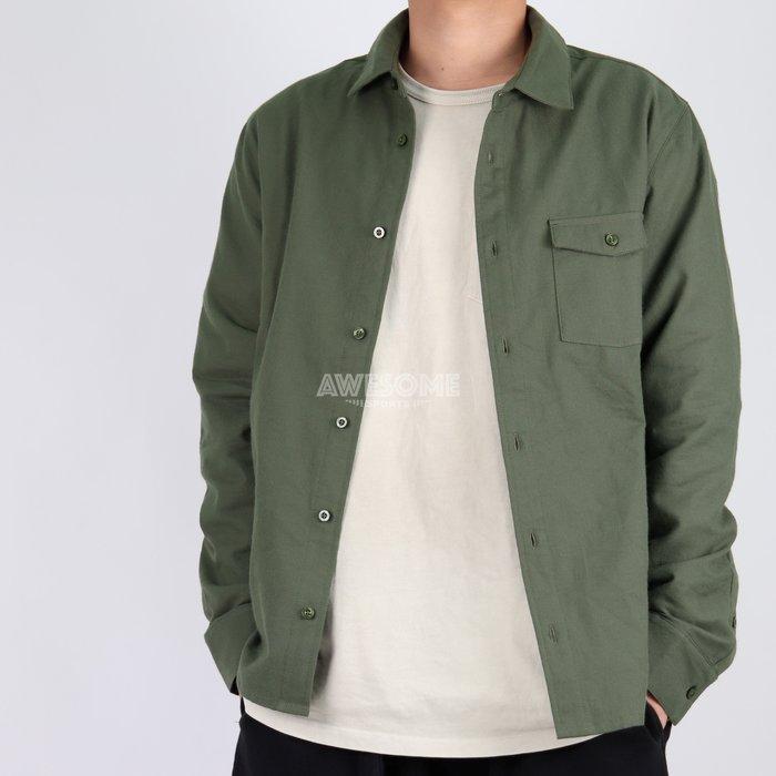 [歐鉉]NIKE SB FLANNEL 軍綠 法蘭絨 磨毛 長袖襯衫 滑板上衣 男生 CV4450-325