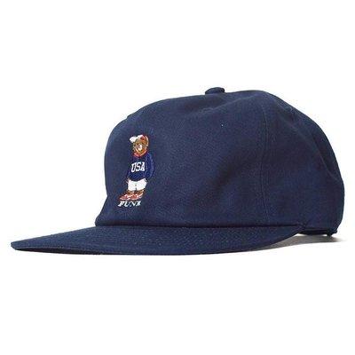 { POISON } INTERBREED USA BEAR BALL CAP 日本頂級刺繡小熊棒球帽老帽 深藍
