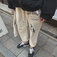 Forever Kids 韓國連線 正韓 個性塗鴉縮口褲【WA347】