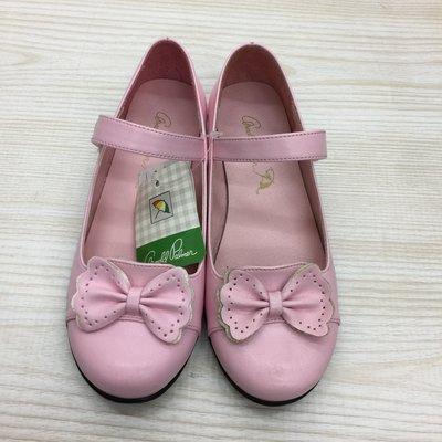 【愛莎&嵐】Arnold Palmer 雨傘牌 女童 粉色蝴蝶結娃娃鞋 /32 (21CM) (全新) 1070619