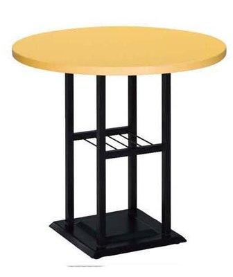 【台南滿5000元免運費】全新 75cm 黃色 圓桌 用餐桌 咖啡簡餐桌 西餐桌 大台南冠均家具批發 B760-07