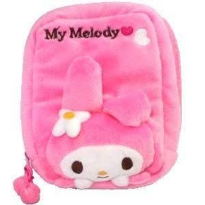 *凱西小舖*日本進口三麗歐正版MELODY美樂蒂絨毛系列收納/相機包