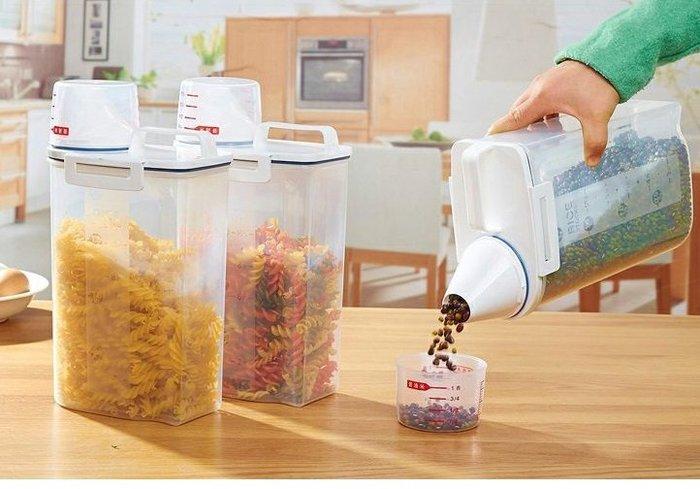 朵拉媽咪 ❤️全新❤️ 密封罐 雜糧罐 米罐 乾貨收納盒 儲物罐 收納罐 塑料密封罐 雜糧罐 儲物 收納