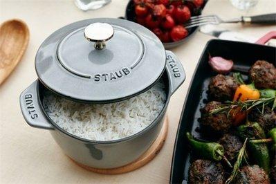 法國 Staub 米飯鍋 燉飯鍋 鑄鐵鍋 琺瑯鍋 湯鍋 燉鍋 (石墨灰) 16cm ~ 現貨
