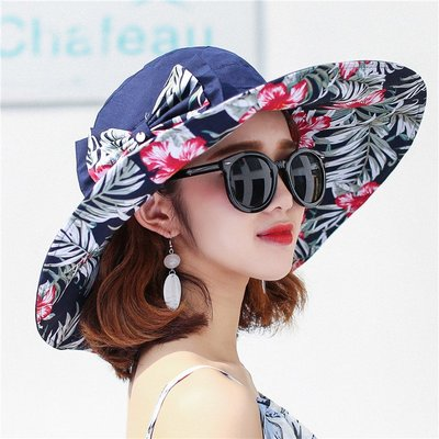 遮陽帽 沙灘帽 太陽帽 棒球帽 大沿遮陽帽子女夏天時尚百搭戶外出游防紫外線防曬太陽帽可折疊