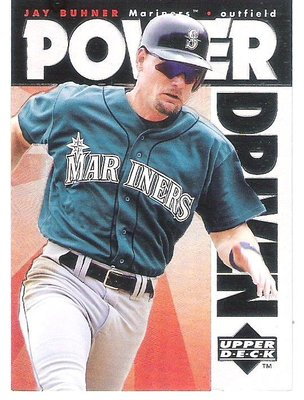 1996 UD POWER DRIVEN #PD3  JAY BUHNER  特殊卡
